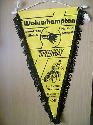 Speedway Pennants-WOLVERHAMPTON NATIONAL LEAGUE @Ladbroke,Monmore Green(34x20cm)