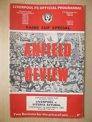 LIVERPOOL v VITORIA SETUBAL 1969 European Fair Cup Special 2nd RD 2nd Leg