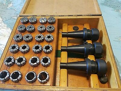 Erickson Carbaloy NMTB 30 / 30 Quick Change set of 3 Collet Holders and collets