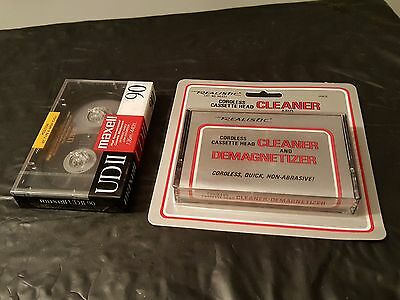 Realistic Cordless Cassette Head Cleaner And Demagnetizer/1 Maxell UDII 90.