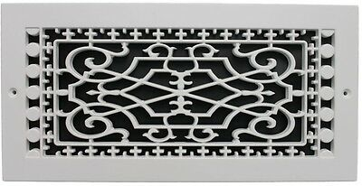 Wall Mount Polymer Resin Decorative Cold Air Return Grille Cooling , White