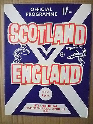 1964 International Match- SCOTLAND v ENGLAND, 11 April (Org*, Exc)