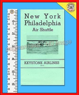 KEYSTONE AIRLINES 1936 AIRLINE TIMETABLE SCHEDULE...Amphibian Flying Boats