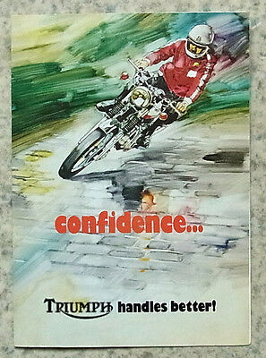 TRIUMPH 750 T140 & TR7RV MOTORCYCLES Sales Brochure 1973 TIGER Bonneville SAINT