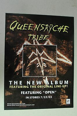 """QUEENSRYCHE """"Tribe"""" Full Page AD magazine clipping 2003"""