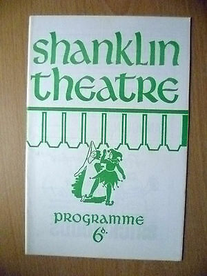 SHANKLIN THEATRE PROGRAMME 1966- M HAMILTON'S THE HOLLOW by AGATHA CHRISTIE