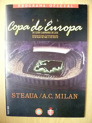 1989 European Cup FINAL- STEAUA v A C MILAN, 29 May (Org & near Mint con.)
