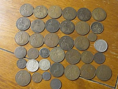 Lot Vintage Foreign Coins Coinage Currency Dated 1862-1940's