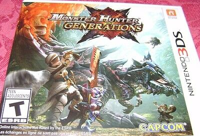 Factory Packing Box for Monster Hunter Generations (Nintendo 3DS)