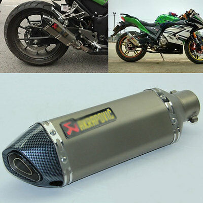 38-51MM Motorcycle Exhaust Muffler Pipe System With Removable DB Killer Silencer