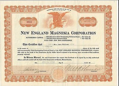 Stk-New England Magnesia Corp. 1930 Ginger Ale like Beverage  See images 4-7
