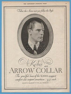 1924 J. C. Leyendecker Cluett Peabody Co Troy NY Arrow Collar Men's Clothing Ad