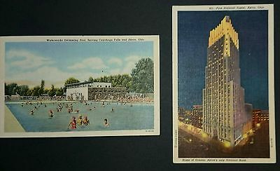 Two Original Vintage American Linen  Postcards Circa 1960's Posted