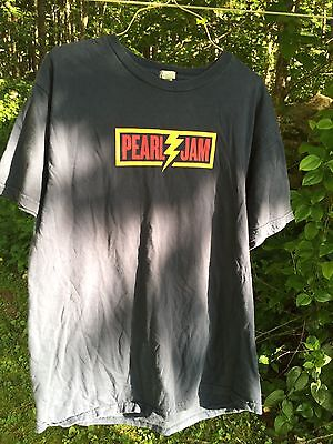 Pearl Jam Concert Shirt Lightning Bolt Tour Medium