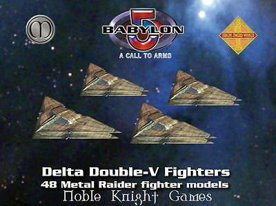 Mongoose Babylon 5 Call to Arms Raiders Mini Double-V Fighters Box MINT