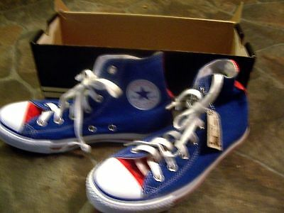 Red White Blue Converse Chuck Taylor All Star Shoes Women 8 Men 6 Vintage ?