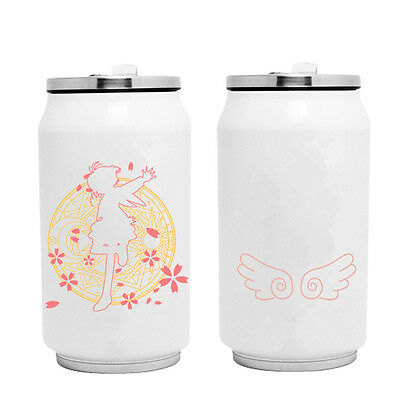 Anime CARDCAPTOR SAKURA Water Bottle Stainless Steel Vacuum Cup Mug Thermos Cup
