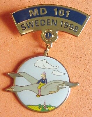 LIONS pin MD 101 SWEDEN 1998