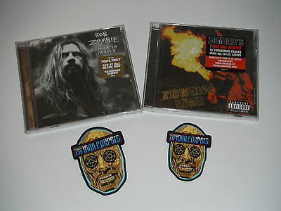 ROB ZOMBIE / HOUSE OF 1000 CORPSES lot 2 CDS SEALED / 1 MAGNET , 1 PATCH