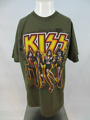 Kiss Army T Shirt XL Green Tennessee River