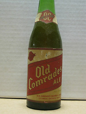 Antique Canadian Beer Bottle, Old Comrades Ale,12oz,Capped Tecumseh ,CANADA