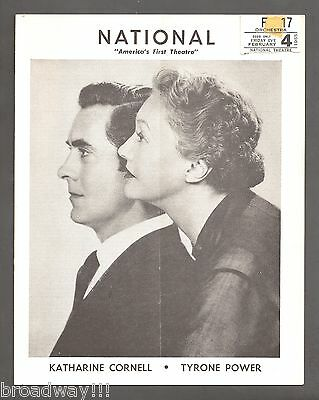 """Tyrone Power """"THE DARK IS LIGHT ENOUGH"""" Christopher Plummer 1955 Tryout Playbill"""