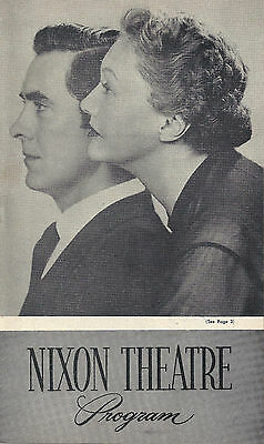 """Tyrone Power """"THE DARK IS LIGHT ENOUGH"""" Katharine Cornell 1955 Tryout Playbill"""