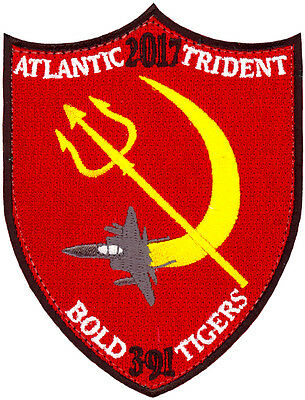 Usaf 391St Fighter Squadron - Atlantic Trident 2017 Patch