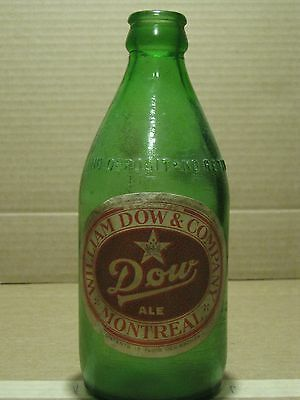 Antique Canadian Beer Bottle, Dow Ale non refundable, 12oz, CANADA, #88