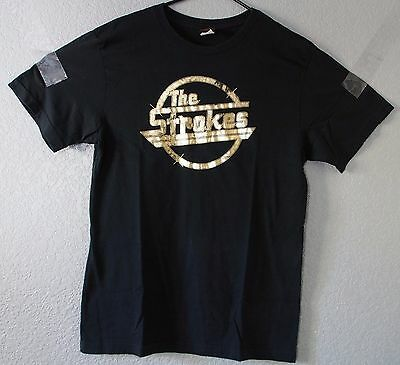 The Strokes Concert T Shirt Black Gold Rock M