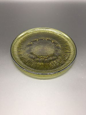 Vintage Antique Mid Century Fostoria SORRENTO GREEN Small Dinner Salad Plate
