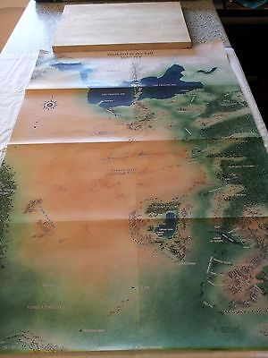 DUNGEONS & DRAGONS ROLE PLAYING VINTAGE MAPS x5