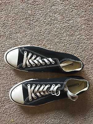 GUC Black Low Top Canvas CONVERSE Shoes Women's Size 12 Men's Size 10