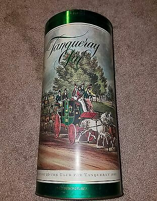 Barrister, Wallis, and Manners collectable cannister, tanqueray gin, 1980