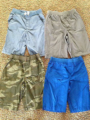 Boys size Large (10-12) shorts; lot of 4; 3 Faded Glory & 1 H&M