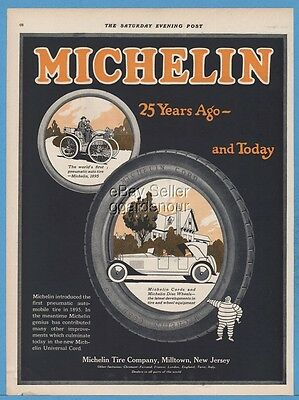 1920 Bibendum Michelin Man Milltown NJ Cords Car Auto Tire 25th Anniversary Ad