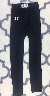UNDER ARMOUR Boys Fitted black thick Athletic Leggings Size YSM youth small