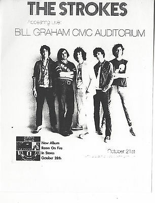 Rare Concert Flyer THE STROKES Bill Graham Civic Aud 2003