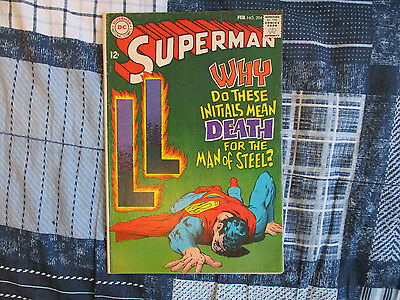 Superman #204 1968 Neal Adams Cover Dc Silver Age!