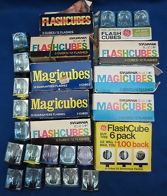Vintage photo flash cubes Sylvania GE 48 cubes for 192 flashes