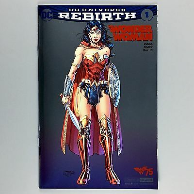 Wonder Woman Rebirth #1 SDCC 2016 Comic Convention HOLOFOIL JIM LEE Variant NM