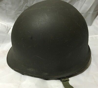 WW2 WWII US Army Fixed Bail Metal Helmet W/Liner Soldiers Name M1? USCE Engineer