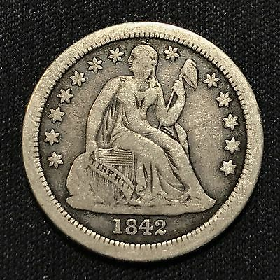 1842-o Liberty Seated Dime VF Detail, Beautiful Coin!