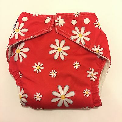 Fuzzibunz One Size Pocket Cloth Diaper Flowers Adjustable With 2 Inserts (A28)