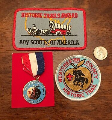 Bsa Historic Trails Award Embroidered Patch & Medal & Local Patch