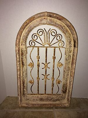 "Wrought Iron WINDOW Guard - Architectural Salvage 23.5"" Tall"