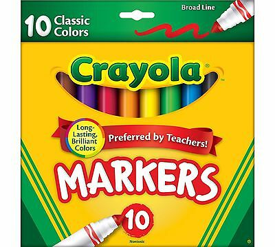 Crayola Broad Line Markers, Classic Colors 10 ct. 58-7722