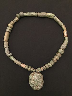 Jade pre-columbian necklace