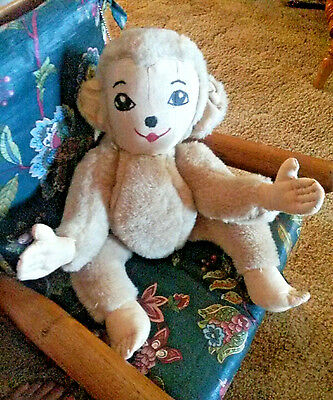 Antique.. articulated stuffed monkey excellent condition free ship fast
