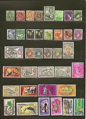 Nigeria 36 Old Used Stamps